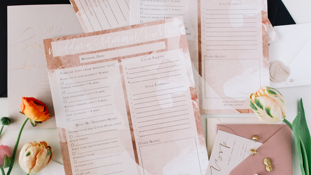 Top 3 things on your newly engaged checklist